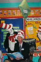 Ken Lass participates in Read Across America day.