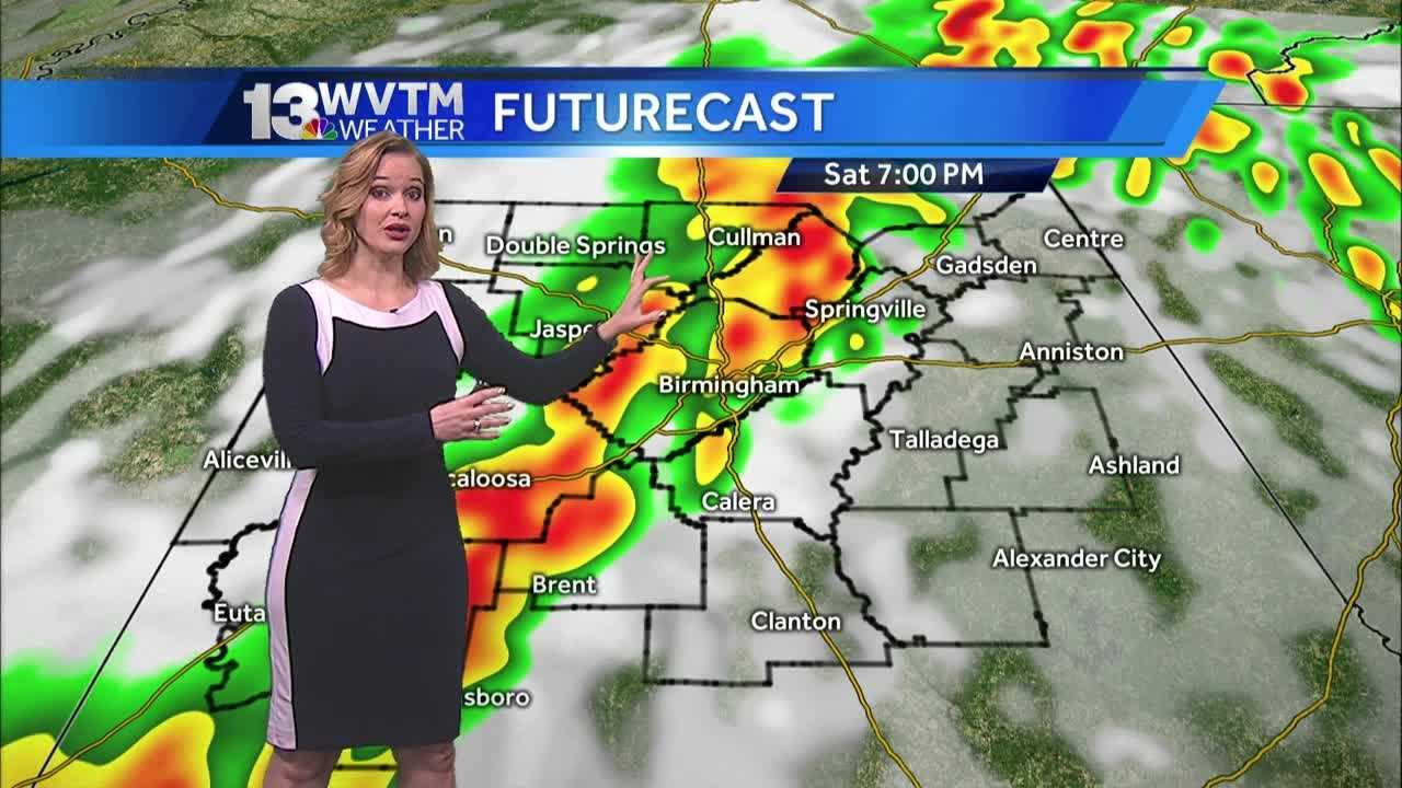 Rain get heavy later today and tonight