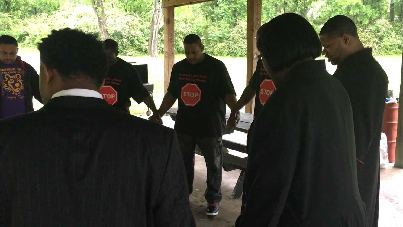On a rainy Sunday in Birmingham, a group of people from the faith-based community prayed for an end in violence in the Magic City.