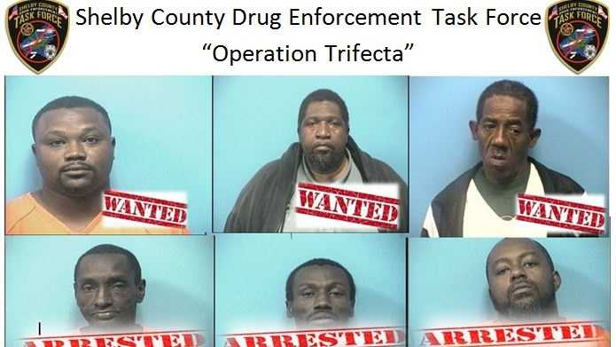 Shelby County Arrests 9 Arrested In Operation Trifecta Drug Bust