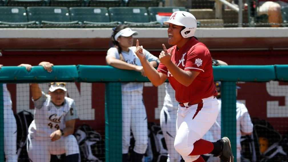 Alabama softball punched its 12th-straight ticket to the NCAA Super Regional round with an emphatic 8-0 shutout win over Cal in Sunday's NCAA Regional final at Rhoads Stadium.