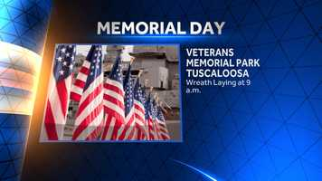 There will also be a wreath laying service at Veterans Memorial Park. Events will begin at 9 a.m.