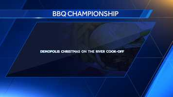The Demopolis Christmas on the River Cook-off was adopted as Alabama's barbecue championship in 1991.