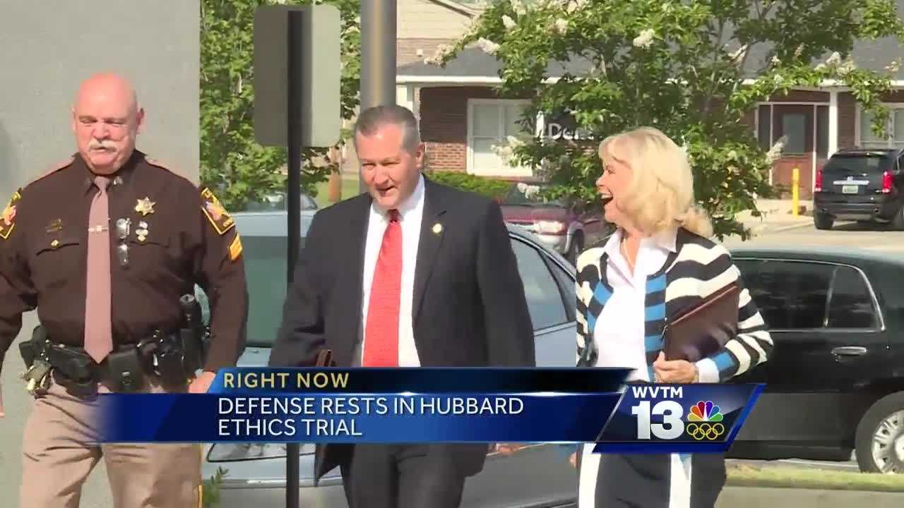 Defense rests in Hubbard trial