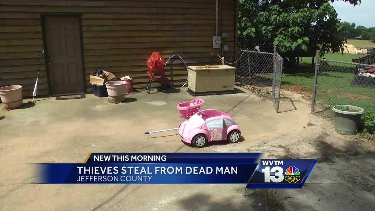 Thieves steal from dead man