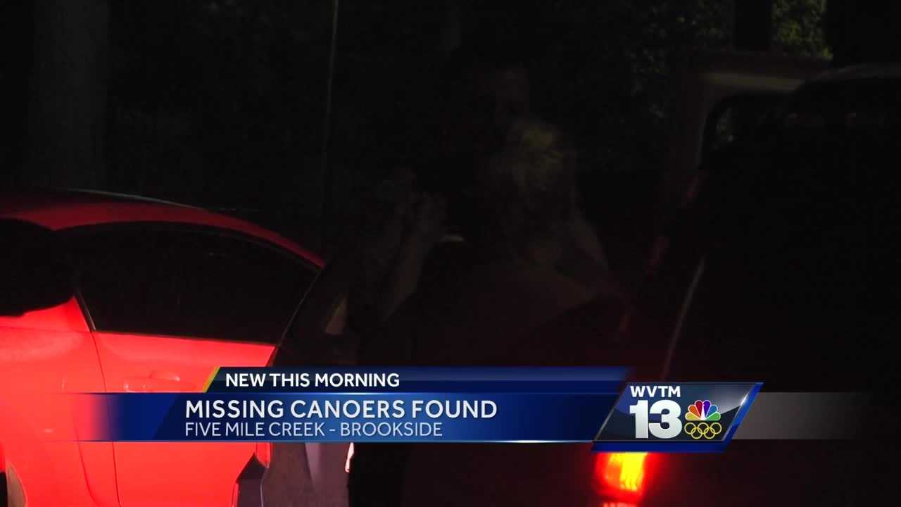 Missing canoers found in Brookside