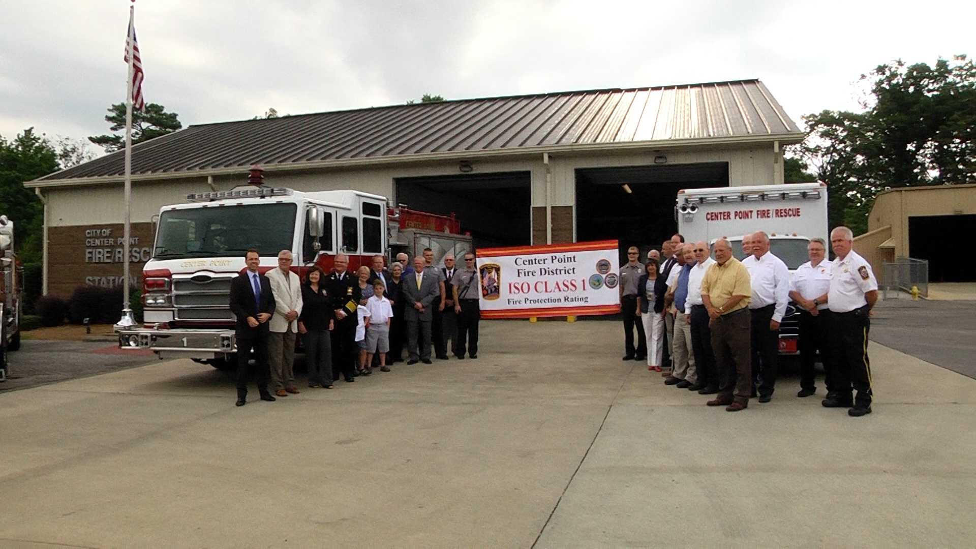 The Center Point Fire District has been recognized as one of the top fire service agencies in Alabama.