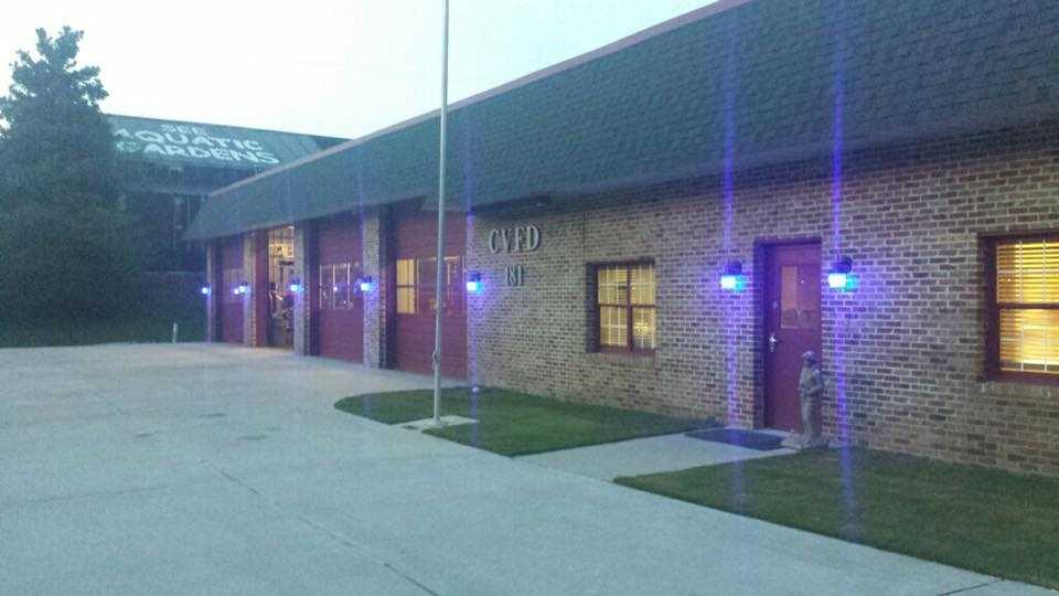Cahaba Valley fire station turns blue for law enforcement