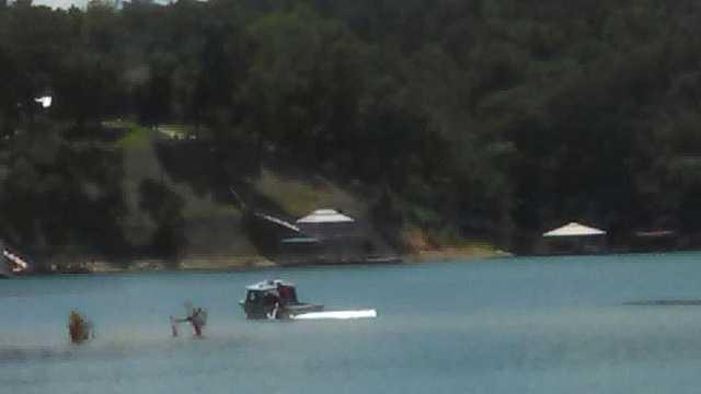 Boat motor stolen on Smith Lake, boat capsizes