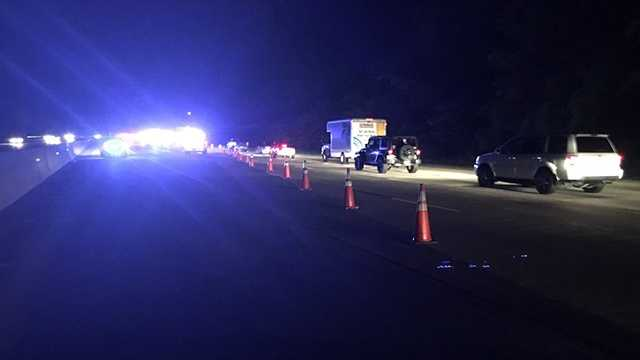 Fuel spill closes lanes on I-65 in Hoover