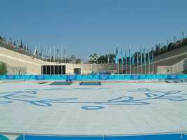 Birthplace of the original Olympics, Greece hosted the first modern era games in 1896 and again in 2004.Olympic Stadium Panathinaic 2004 - Dkoukoul - Creative Commons Wiki