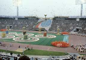 Russia hosted the Summer Olympics in 1980 when the country was still the Soviet Union.Opening ceremonyo f the 1980 Olympic Games - Sergey Guneev - Creative Commons Wiki