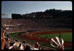 Italy hosted the summer games in 1960.Rome olympics 1960 Opening Day - Alex Dawson - Creative Commons Flickr