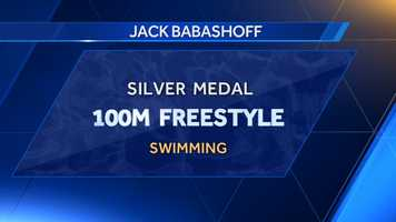 Jack Babashoff, a graduate of the University of Alabama, received a silver medal in 100m freestyle at the 1976 summer games in Montreal.