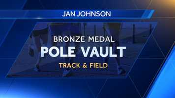 Alabama alum Jan Johnson placed third in pole vault at the 1972 Summer Olympics in Munich.