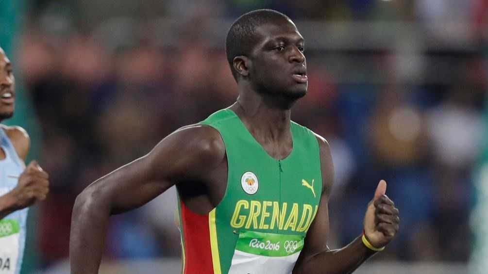 Former Crimson Tide star Kirani James ran a season-best time to finish with a silver medal in the Olympic 400-meter race Sunday in Rio.