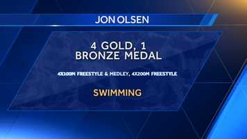 University of Alabama alum Jon Olsen won a total of five medals in his Olympic career. Olsen took two gold and one bronze at the 1992 Summer Olympics in Barcelona and two gold medals in 1996.
