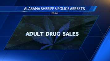 The Alabama Law Enforcement Agency provides a yearly report releasing statistics from law enforcement throughout the state. Here are ten counties in Alabama with the highest amount of arrested adults for drug sales in 2014.