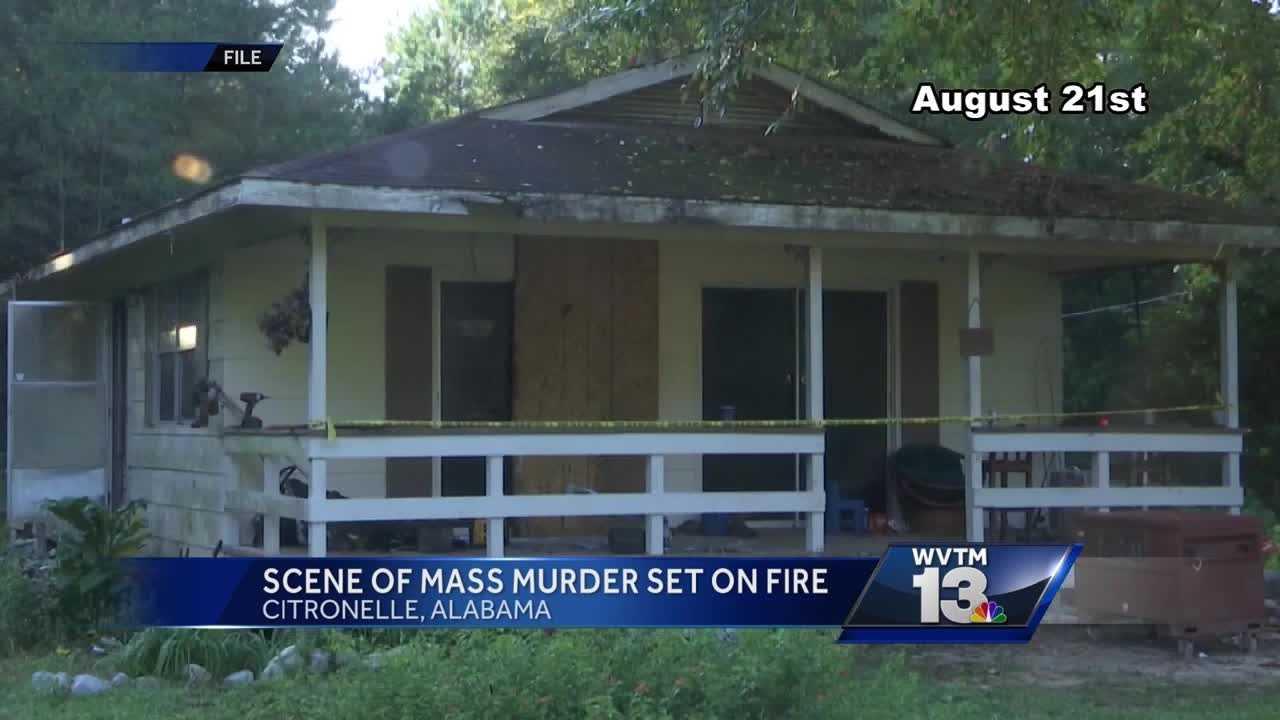 Scene of Citronelle massacre set on fire