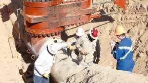 Crews work to repair a gasoline pipeline in Helena on Saturday, Sept. 17.