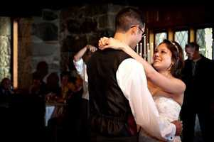 """A first dance for the """"Beauty and The Beast Theme"""" could be danced to the """"Beauty and The Beast"""" song. """"Be Our Guests"""" and other songs played for the reception. Or could be in your """"Save The Date"""" video."""