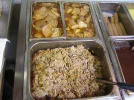 Chopped pork is Carter Brothers' most popular menu item. The Main St. store alone goes through 25 pork shoulders a day.