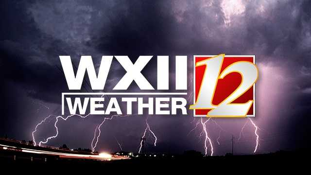 WXII 12 Weather severe storm lightning