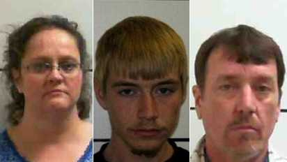 L-R: Mary Cook, Dillon Leftwich and Tommy Leftwich (Surry Co. Sheriff's Office)