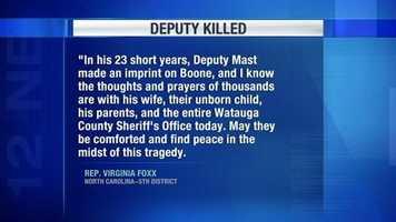 Statement from Virginia Foxx