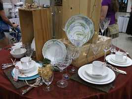 Belk fine china and glassware sets...