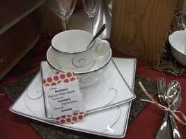 Several fine china brand names to choose gifts from at Belk...