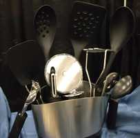 Kitchen utensils can be used everyday for the couples incredible meals they'll share...