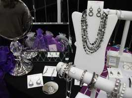 Representatives from Lia Sophia showed off presents that the bride could give out to the bridesmaids...