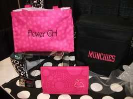 A gift bag for the muchies maybe great for the wedding party before the wedding jitters for everyone. (Thirty-One Personalized Gifts)