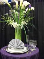 Caterers sometimes decorate as well or have wedding planners they work with for the reception...(Holiday Inn, Winston-Salem)