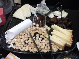 Several different cheeses and crackers can be served on the buffet for the reception...(Whole Foods Market)