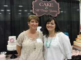 Cake & All Things Yummy was atThe Carolina Weddings Show, showcasing their cakes and talk with couples...