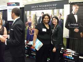 Representatives from The Men's Wearhouse Tuxedo Rentals were available at The Carolina Weddings Show to show everyone what can be rented. They also gave out gift bags...
