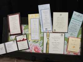 All kinds of wedding, save the date and wedding party invites can be found at The Carolina Weddings Show...(Invitations Only -  A Fine Stationary and Gift Boutique)