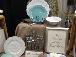 Gifts can be purchased or given away with registry at The Carolina Weddings Show...(Invitations Only - A Fine Stationary and Gift Boutique)