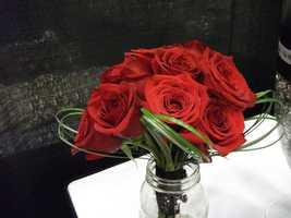 Nice reds for Valentine's Day themed wedding. (Dahlias Flowers)
