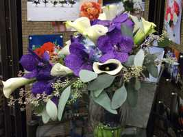 Beautiful colors and flowers for everything in your ceremony and reception. Wedding shows help to show you ideas you may not have ever thought of for your big day. (Beverly's of Midway Flower's and Gifts)