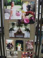 Beverly's of Midway Flowers and Gifts had several photos on backgrounds to show off what you may need and the different looks for your ceremony.