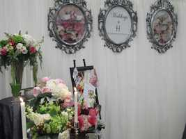 Weddings by Hummingbird Designs had all kinds of flower arrangements for the reception tablescapes.