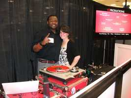 K2 Productions was set up at The Carolina Weddings Show to show off their music and videos.