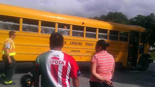 School bus collision in Wallburg (Bill O'Neil/WXII)