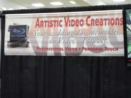 Artistic Video Creations were also available at The Carolina Weddings Show to explain their business to couples.