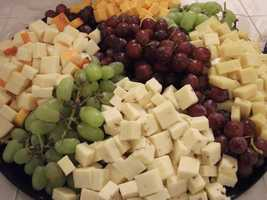 The Lowe's Foods booth also had wonderful food trays that can be used for all your wedding events too.