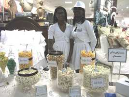 The Popcorn Fanatic was available to talk to couples about all their popcorns and candies at theBelk Engagement Party.