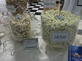The Popcorn Fanatic served up several flavors like this white chocolate to entice guests to taste test.